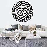 stickers muraux chambre Bouddha Namaste Yoga Mandala Salons Diy Home Decor Yoga Lotus...