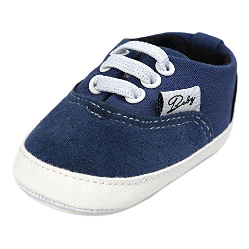 Hunpta Baby Mädchen Jungen Canvas Schuh Freizeitschuhe Sneaker rutschfest weiche Sohle Kleinkind (Alter: 6 ~ 12 Monate, Navy) (Kleinkind-jungen-schuhe Navy)