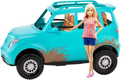Mattel Barbie Acampada-Muñeca con Coche de Juguetes +3 años FGC99
