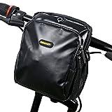 Lenkertasche Fahrrad, Rhinowalk 3.5L Wasserfeste Fahrradtasche Lenker mit Regendichter Schutzhaube und Abnehmbarem Schultergurt