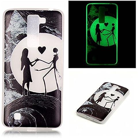 AllDo Funda Silicona para LG K10 Carcasa Protectora Caso Suave TPU Soft Silicone Case Cover Bumper Funda Ultra Delgado Carcasa Flexible Ligero Caja Anti Rasguños Casco Anti Choque - La Belleza y el Espantapájaros