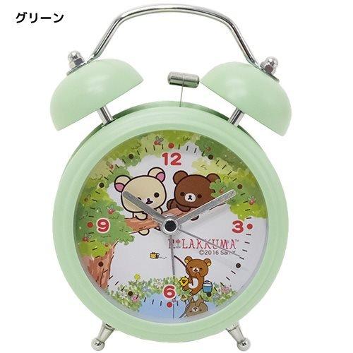 San-X Rilakkuma Twin Bell Uhr Mini/Grün