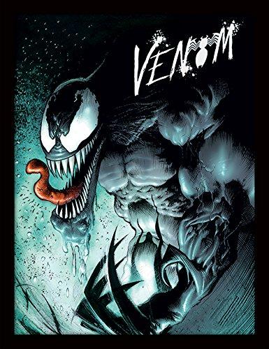 Marvel Daredevil Comics Kostüm - Pyramid International Marvel Extreme (Venom) 30x40 cm gerahmter Druck, 250GSM PAPERWRAP MDF, Mehrfarbig, 44 x 33 x 4 cm