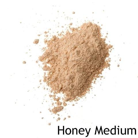 Mineralshack MATTE powder foundation 6 or 12g refill bags FULL COVER. CHOOSE YOUR SHADE! (6 Gram Refill Bag, Honey Medium)