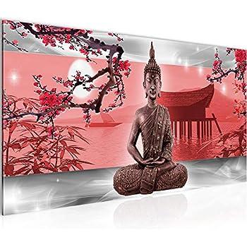 Runa Art Bilder Buddha Feng Shui Wandbild 100 x 40 cm