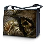 Luxburg® design sacoche sac de messager à bandoulière pour ordinateur portable Notebook 15,6 pouces, motif: Jeu avec la mort