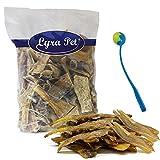 1 kg Rindernackensehnen Nackensehnen Lyra Pet Kausnack Streifen + Ballschleuder