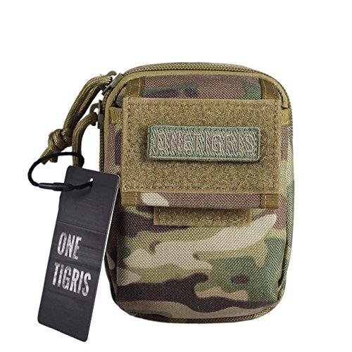 OneTigris Molle Hüfttaschen taktische Zubehörtasche kompakt EDC Tasche 1000D Nylon (Khaki) MC Camo