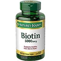 Nature's Bounty - Super potenza biotina 5000 mcg. -Softgels