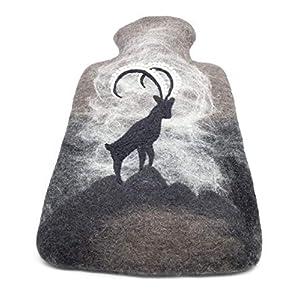 feelz – Wärmflasche gefilzt Steinbock Filz Wolle (Merino) Wärmflaschenbezug – Handarbeit Fairtrade