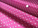 Weiß Polka Dots auf rosa Print Premium 100% Baumwolle