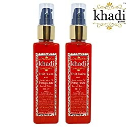 Khadi Global Fruit Fusion With The Richness Of Pomegranate MIST Facial Toner 100% Natural & Safe Contains No Alcohal Pack Of 2 (Total 200 ml)