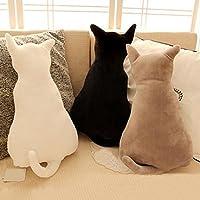 KaariFirefly Cojín para asiento de sofá, diseño de gato, negro, 45 cm