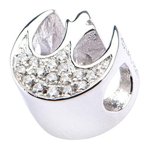 Argento 925 ufficiale Star Wars Rebel Charm Simbolo cristallo tallone braccialetto
