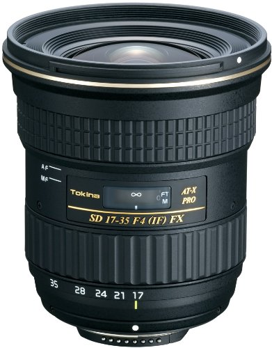 Tokina AT-X 17-35mm/f4.0 Pro FX Weitwinkelzoom-Objektiv (82 mm Filtergewinde) für Nikon Objektivbajonett