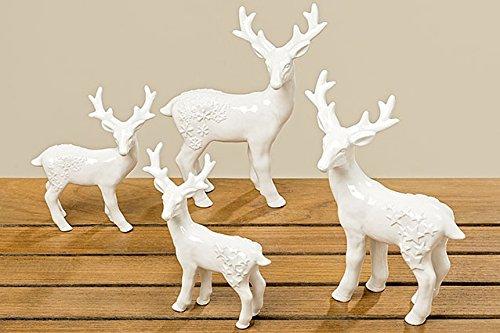 Tamia-Home 2er Weihnachtsdeko Tischdekoration Aufsteller Objekt Figur (Hirsch Mattis) -