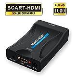 Scart auf HDMI,GANA Scart zu HDMI Konverter 1080P Scart to HDMI Adapter 60Hz HD für HDTV STB VHS XBox PS3 Sky DVD Blu-ray