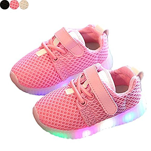 LED Schuhe Kids Light shoes, Stillshine – Junge Girls blinken Sport Running Sneaker Baby shoes Halloween Christmas Gift (23, Rosa) (Kid Sneaker Running)