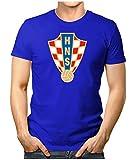 Prilano Herren Fun T-Shirt - Kroatien-WM - XL - Blau