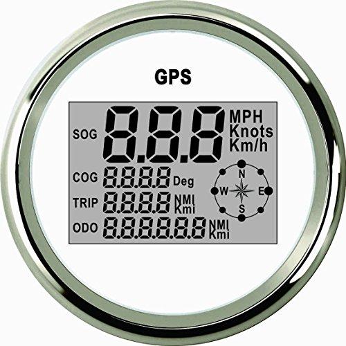 GPS-Tachometer, Kilometerzähler, Wasserdicht, Digital, für Auto, Boot, Truck mit Hintergrundbeleuchtung 85mm, - Gps-auto-tacho