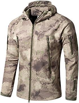 Impermeable militar táctica lucha contra la chaqueta de Softshell camping al aire libre caminar camuflaje Hoodie...