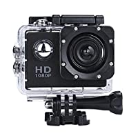Sport Camera, Rcool Mini 1080P Full HD DV Digital Sport Recorder Waterproof Action Camera Camcorder with Mounting Accessories Kits for Bike Motorcycle Surfing Diving Swimming Skiing etc (Black)