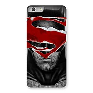 Black Red Forhead Back Case Cover for Micromax Canvas Knight 2