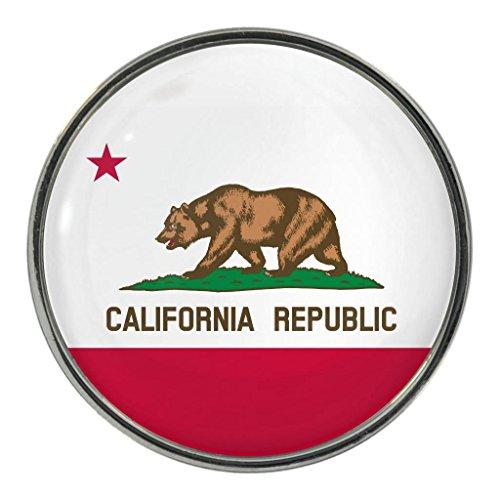 California US State Flagge Metall Magnet Kühlschrankmagnet