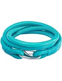 Rafaela Donata Unisex-Armband Edelstahl Leder 60907026
