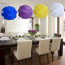 Festival DIY lámpara de techo diseño de lámpara de araña IQ lámpara de techo colgante de piezas de Puzzle lámpara bombillas decorativo marco interior, Azul, 220.00 voltsV
