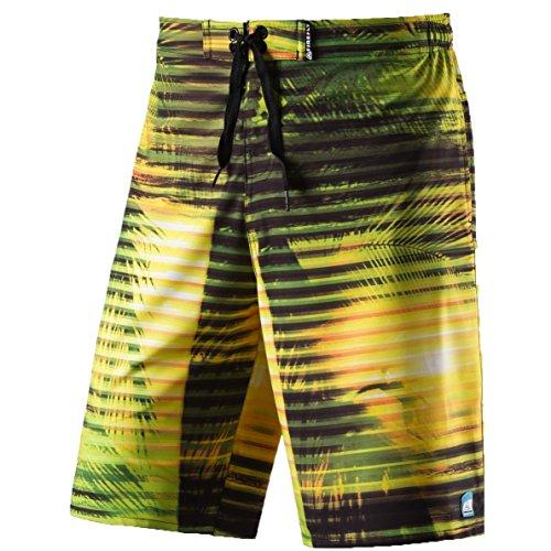 Firefly Janek Swimshorts Herren Badehose Badeshort Hose Bermuda Boardshort, Größe:XL;Farbe:Yellow Light (Jungs Boardshorts)
