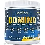 DOMIN8 – Concentré Premium de Pre-Workout– Améliore la Concentration, la Clarté & l'Intensité Mentale – Deux Tailles de Portions pour des Résultats Adaptés – Jusqu'à 100 Portions - 8 Ingrédients Actifs – Résultats Garantis !