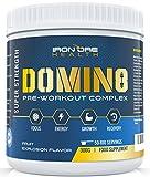 DOMIN8 Poudre avec créatine pour Pré-Séance d'entraînement | Énergie et performance améliorées pour la force et la forme | 100 portions | Offre de 6 mois | Fabriqué au Royaume-Uni par Iron Ore Health