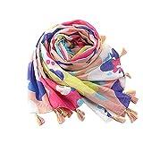 Colorful(TM) Frauen Damen Quaste Print Pattern Lace Long Scarf Warm Wrap Schal (PK)