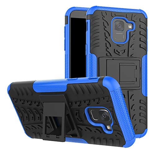 LFDZ Galaxy J6 2018 Custodia, Resistente alle Cadute Armatura Robusta Custodia Shockproof Protective Case Cover per Samsung Galaxy J6 2018 / ON6 Smartphone{Not Fit J6 2017 2016 Version},Blu