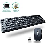 UHURU Compact Slim 2.4GHz Wireless Keyboard And Mouse Combo With Comfortable Buttons And Dedicated Hot Keys For Windows 10 8 7 Vista XP