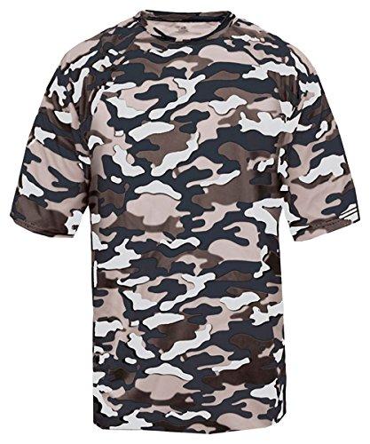 Badger - Maglietta sportiva -  uomo Navy Camouflage