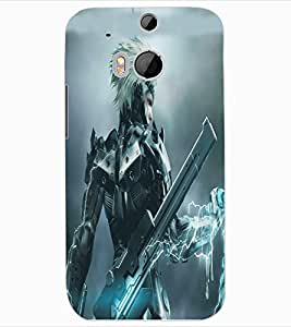 ColourCraft Electric Man Design Back Case Cover for HTC ONE M8