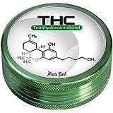 Grinder triturador de aluminio Black Leaf 2x Piezas - Chemistry (50mm)