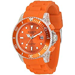 MADISON NEW YORK Unisex Watch Candy Time® Flash Orange Onesize