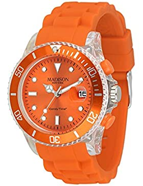 MADISON NEW YORK Unisex Uhr Candy Time® Flash Orange Onesize