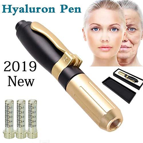2019 Hyaluron Pen für Anti-Falten Lifting Hyaluron Pistole Zerstäuber Hyaluron Stift 3 Ampullenkopf,0.5