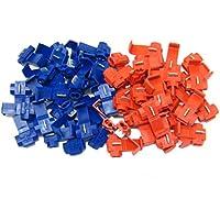 Kicode Útil 20 piezas rojo Blue Scotchlocks Broche de presión en Conector, crimpado, alambre, empalmador, terminal, bloqueo, rápido, empalme, cable