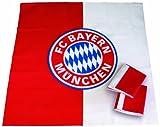 Brauns FC Bayern Mitteldecke 3er-set, rot, 45011