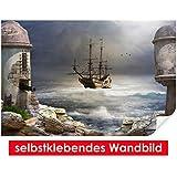 selbstklebendes Wandbild Pirate Bay – leicht zu verkleben – Wallprint, Wallpaper, Poster, Vinylfolie mit Punktkleber für Wände, Türen, Möbel und alle glatten Oberflächen von Trendwände