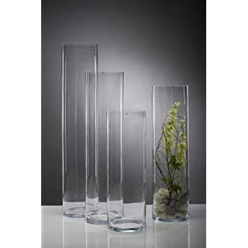 Glass Vase Xxl Cylinder Big 75cm Amazon Co Uk Kitchen Home