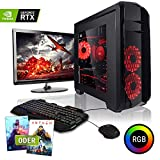 """Megaport Komplett PC Gaming PC Set Intel Core i5-9600K 6X 3.70 GHz • 24"""" Bildschirm • Tastatur • Maus • GeForce RTX 2060 6GB • 480GB SSD • 16GB DDR4 • Windows 10 • 1TB • WLAN Gamer pc Computer Gaming"""