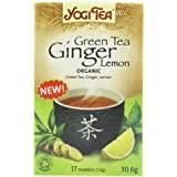 Yogi Tea Green Tea Ginger Lemon Organic 17 Bag (Case of 6)