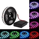 DaSinKo Tiras LED Iluminación 1M 30Leds impermeable IP65 SMD 5050 Multicolor RGB Retroiluminado Tira de Luz LED Lampara 5V pilas de operado Hogar Decorativo