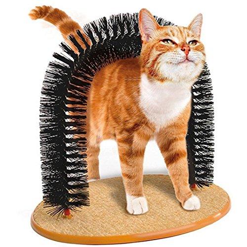 HaoYiShangPerfect Cat Scratcher Arch Post Massage- und Fellpflegebogen für Katzen mit Katzenminze Scratching Kittens Toy Grooming Play Furniture